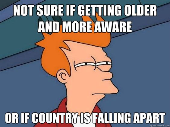 I am leaning towards country falling apart.