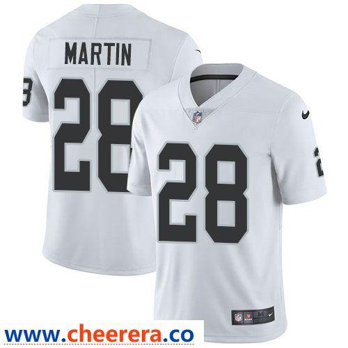 Nike Oakland Raiders #28 Doug Martin White Men's Stitched NFL ...