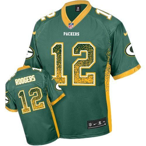 Cheap NFL Jerseys Outlet - Aaron Rodgers Men's Stitched NFL Elite Drift Fashion Jersey ...
