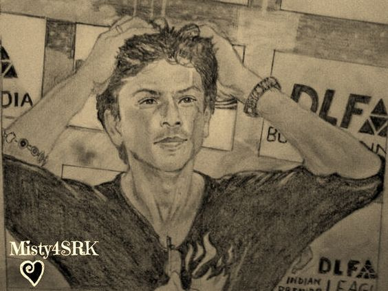 Pencil sketch i drew for last years ipl srk kkr sketches by linda prediger and a few others pinterest