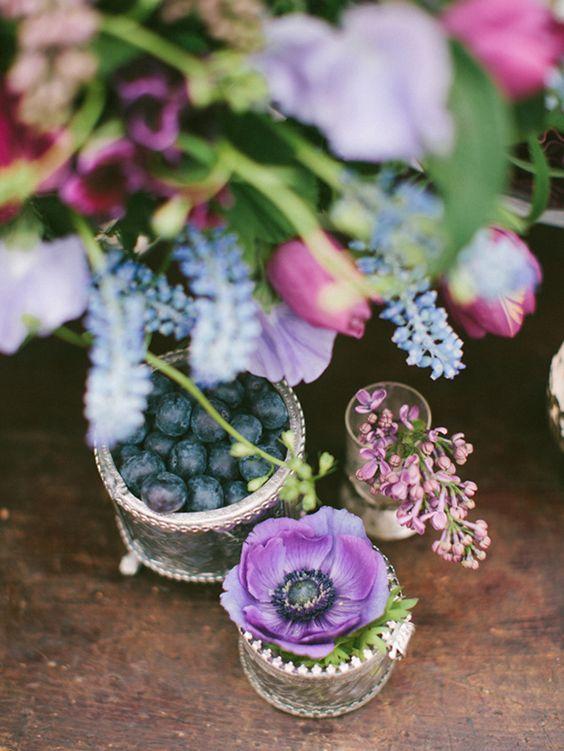 Blue and Berry Wedding Inspiration by Anastasiya Belik