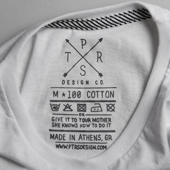 Ptrsdesign co t shirt label clothing tag washing for Put my logo on a shirt