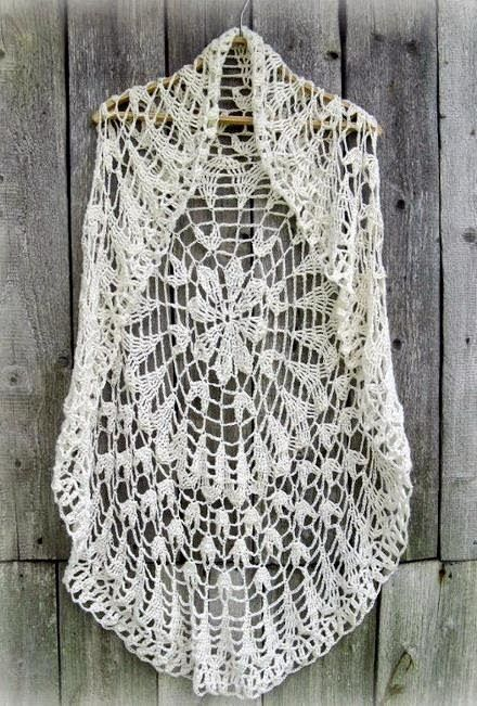 """Crochet Sweater: Crochet Circle Vest  - Chic Vest For Women ♥LCC♥ with diagram, scroll down and click where it says """"pattern"""" to see the diagram"""