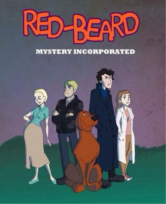 "Sherlock merged with Scooby Doo ~Oh my goodness! I saw this on Amanda Abbington's twitter and I thought, ""Brilliant!"" :D"