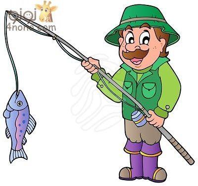 نتيجة بحث الصور عن صورة صياد كليب ارت Fish Cartoon Images Cartoon Fish Free Cartoon Images
