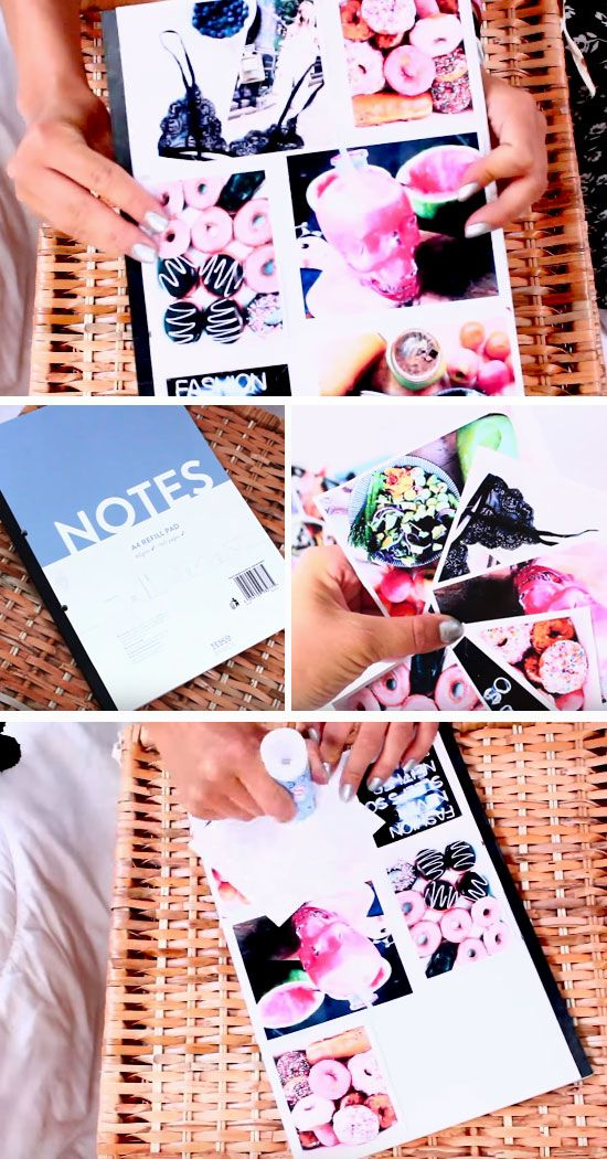 Collage Notebook Covers | DIY Tumblr Inspired School Supplies for Teens you need to try!