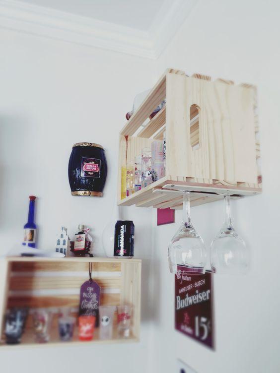 Uma ideia, um cantinho e caixotes.... *barzinho de caixotes*