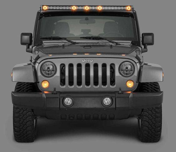 Quadratec J5 Led Light Bar With Amber Clearance Cab Lights Jeep Led Light Bar Bar Lighting Jeep Led Lights