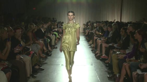 Marchesa Spring 2013 Runway Show Indian Influence
