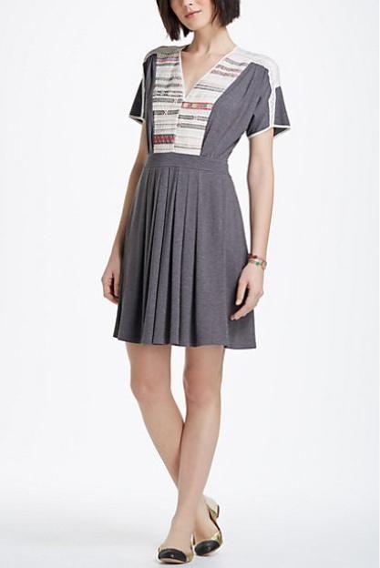 Cross-Stitch Row Dress | Anthropologie