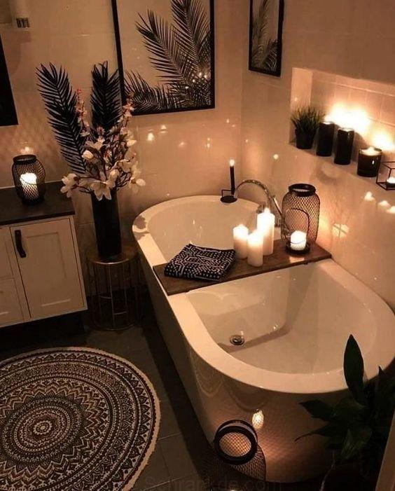 49 Beautiful Bathroom Interior Design Ideas Cozy Bathroom Bohemian Bathroom Boho Bathroom