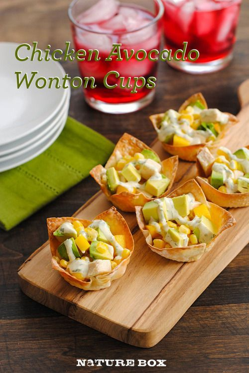 Mini wonton cups for your next party... or meal!.