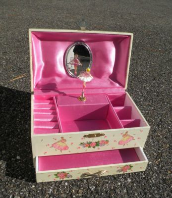 The ballerina jewelry box I had in the 90's...I think every 90's girl had one and thought it was awesome.