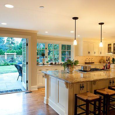 Design window and islands on pinterest - Open window between kitchen living room ...