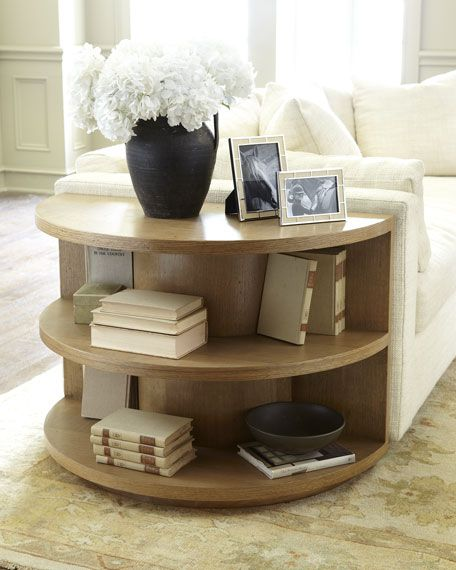 Easy Diy Wood Half Round Side Table | Decor. | Pinterest | Cable