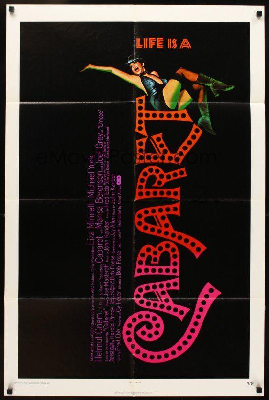 CABARET 1sh '72 singing & dancing Liza Minnelli in Nazi Germany, directed by Bob Fosse!