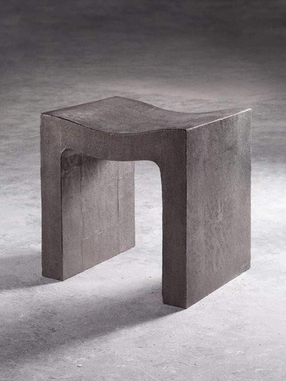 Beton Tisch Beistell zweifuß