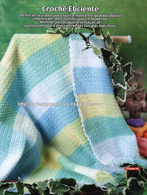Artes by Cachopa - Croche & Trico: Bebê - Manta