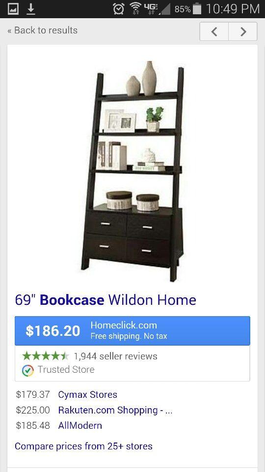 Leaning shelf w/drawers