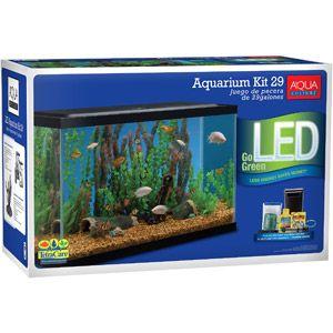 Aqua culture aquarium starter kit 29 gallon aqua for Fish tank starter kit