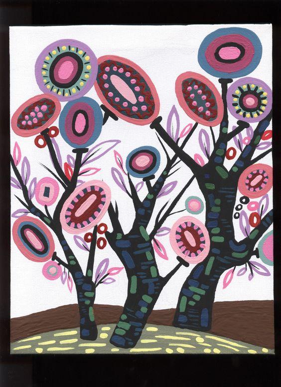Original Acrylic Tree Painting