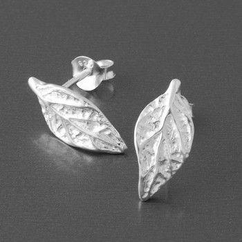 Ohrstecker Blatt 925 Silber