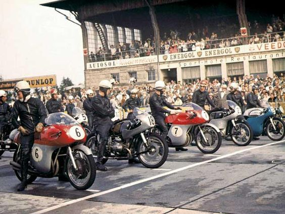 MV Agusta versus BMW and Norton at the Motorcycle Grand Prix 1958
