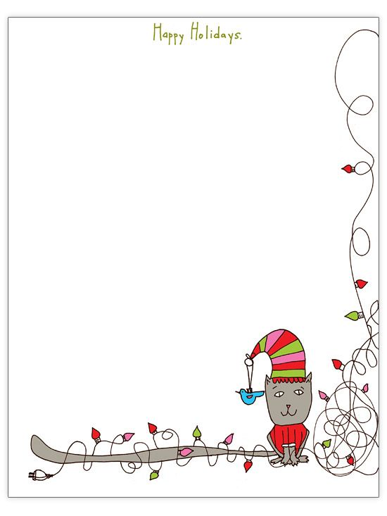 Free christmas letter templates gardens bulletin board for Bulletin board template word