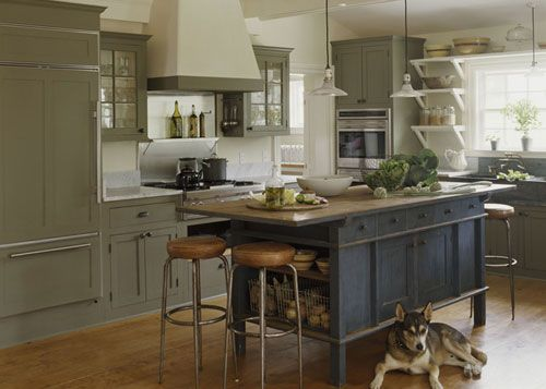 I love this kitchen, especially the island!