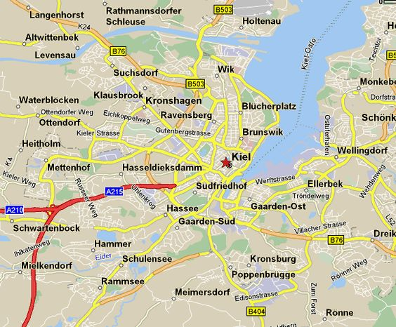 kiel map Angelic Kerbers home town 40 Luv Pinterest Kiel
