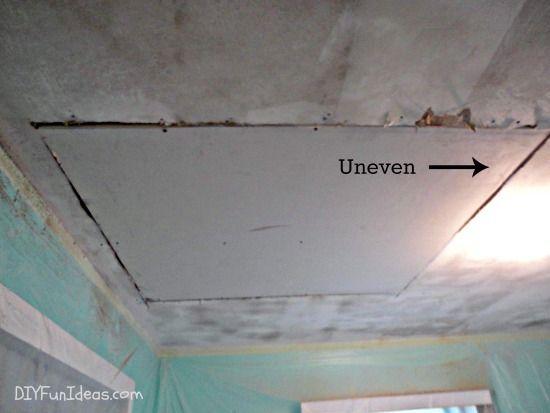 How To Fix Ceiling Drywall Repair Ceilings Drywall Repair Diy Home Repair
