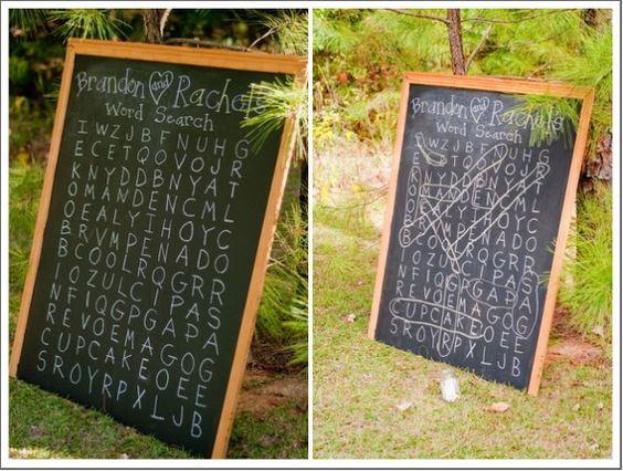 This is just way too cute for us word nerds - Wedding Word Search Game