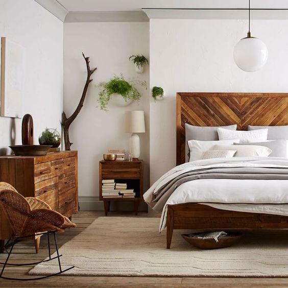 Alexa Reclaimed Wood Bed | Bedrooms, Master bedroom and Interiors