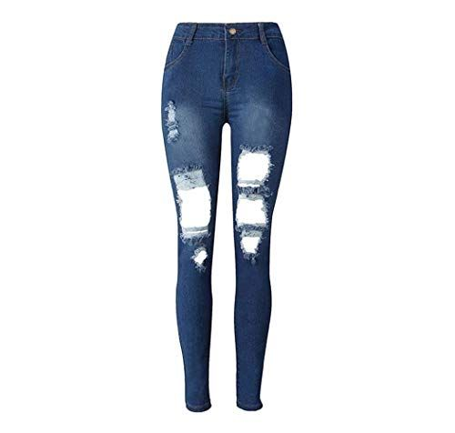 Uomini Denim Jeans Skinny strappato i pantaloni blu UK Regular Stretch Slim Fit Pantaloni