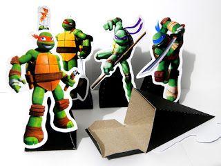 Lembrancinhas para festas - Artes e Ideias Personalizando: Tartarugas Ninjas
