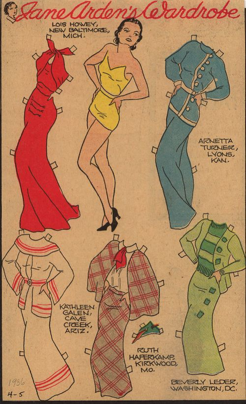 Jane Arden 4-3-1936