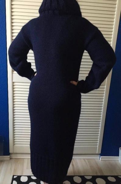 Handgestrickter DICKER Angorawolle Pullover in Blau in der Gr?sse S--XL tragbar…
