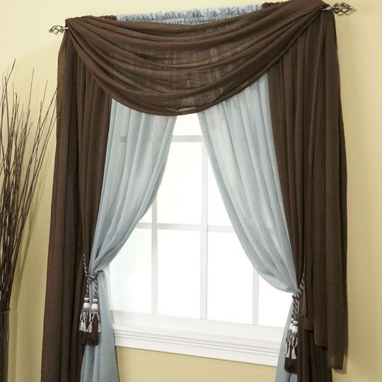 Entry ways style and window on pinterest - Pictures of different ways to hang curtains ...