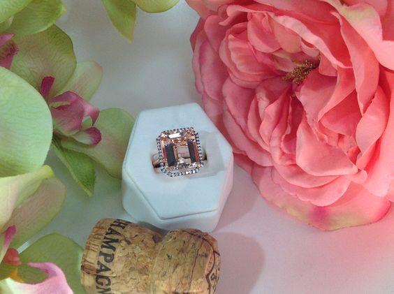 Morganite & Diamonds in Rose Gold