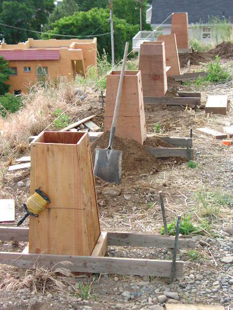 How to make pier footings for housing this is a footing for Shipping container pier foundation