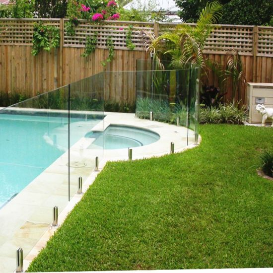 Hot Item 10mm Transparent Toughened Glass For Swimming Pool Safety Fence Swimming Pool Safety Pool Safety Fence Glass Pool Fencing