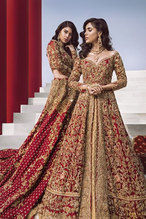 Crimson Birds Bridal Wear Asian Bridal Dresses Red Bridal Dress Indian Bridal Outfits