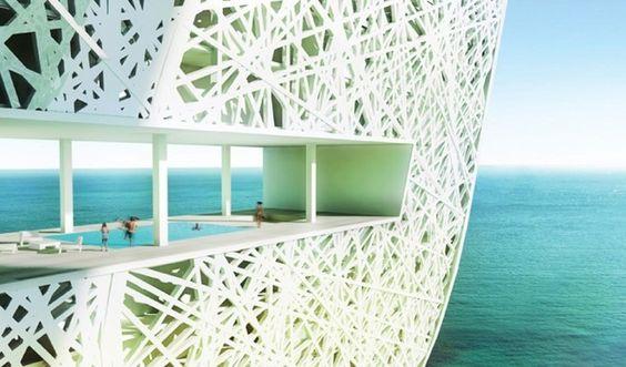 Amazing pool at Marina + Beach Towers, #UAE #Hotel
