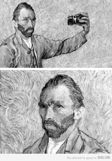 Van Gogh, Self portrait.