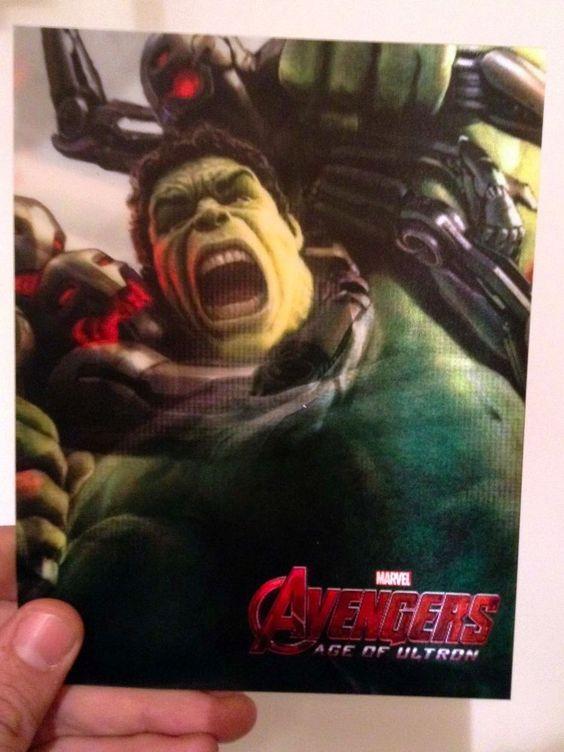 Avengers Age of Ultron HULK 3D lenticular Flip Card effect New