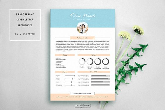 Ansel - Photoshop Resume Template by @Graphicsauthor Resume CV - photoshop resume templates