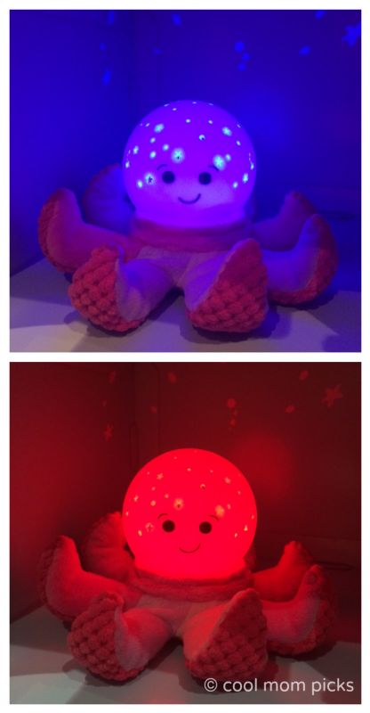 The new Cloud B nightlight -a  plush octopus! One of our favorite new finds at Toy Fair.