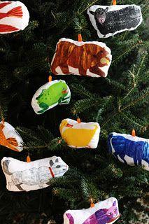 Brown Bear, Brown Bear Ornaments #Eric_Carle #Christmas