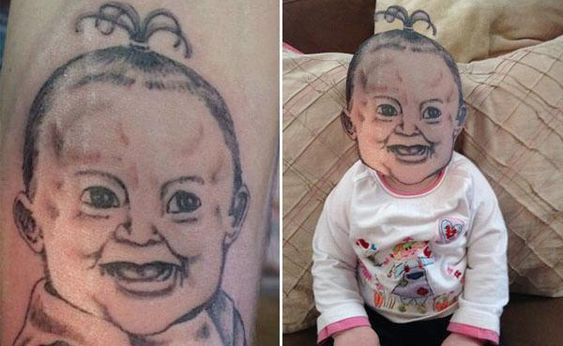 Bad tattoos photoshopped over their real life equivalent (12 Photos):