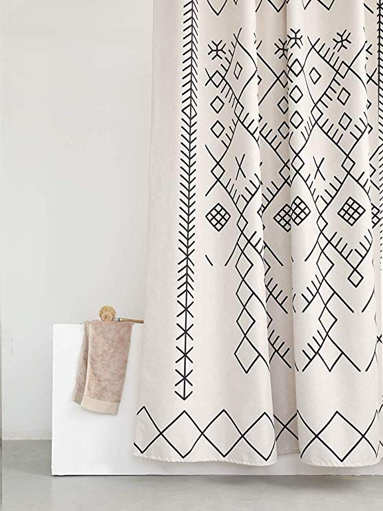 Amazon Com Yokii Boho Extra Long Shower Curtain 84 Inch Tribal